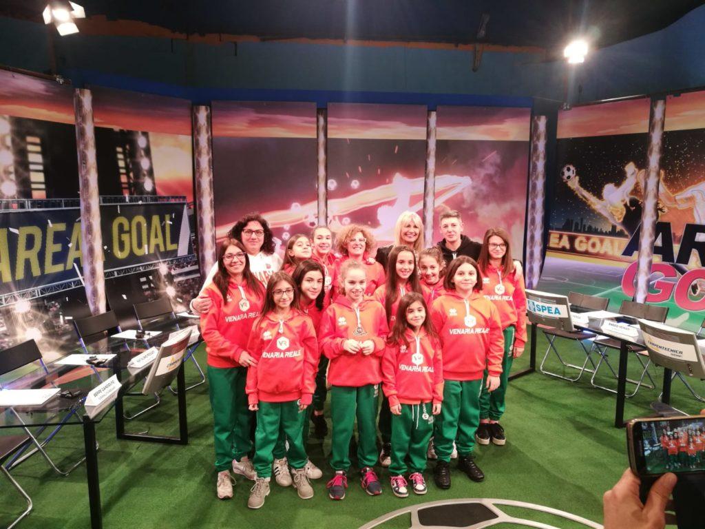 """Scuola Calcio Femminile – Le cervotte del Venaria Reale protagoniste nella trasmissione TV """"Area Goal"""""""