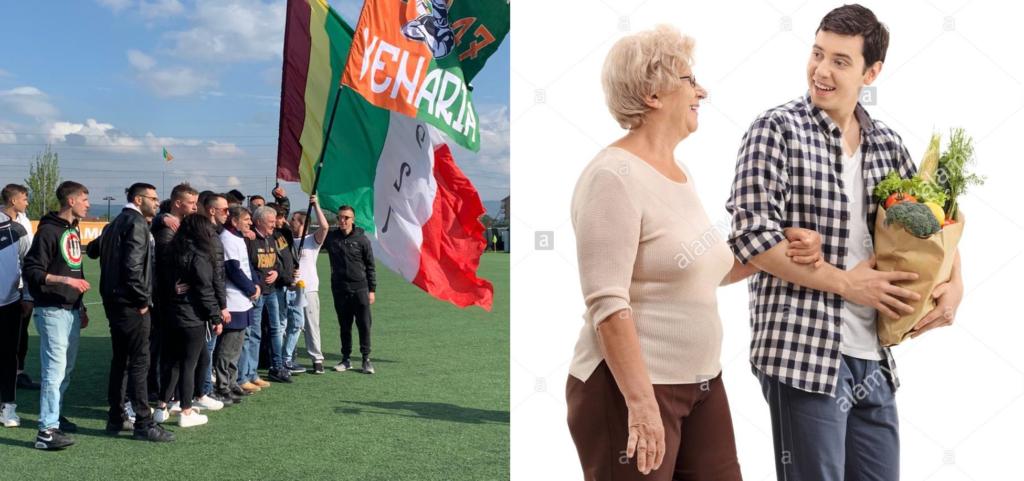 Domenico Mallardo e i tifosi del Venaria calcio di Nuova Guardia in prima linea: consegna spesa a domicilio per gli anziani di Venaria